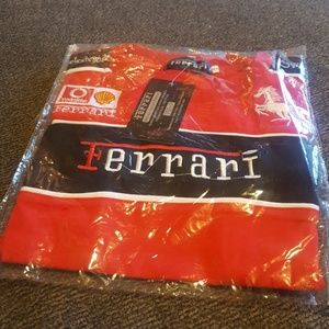 Brand new Ferrari pit style size 7 shirt boys